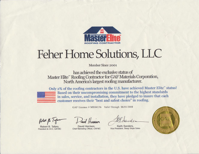 Roof Replacements By Feher Home Solutions Llc In The Nj Area